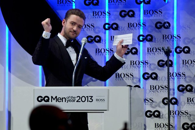 Justin Timberlake at the GQ Men Of The Year Awards ©Timebased Events 2013