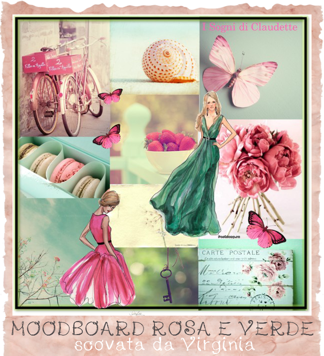 mood board rosa e verde - blog design di Only Butterfly
