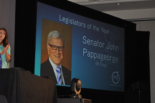 Senator John Pappageorge Receives Legislator of the Year Award from Michigan Municipal League at Annual Convention in Detroit 2013