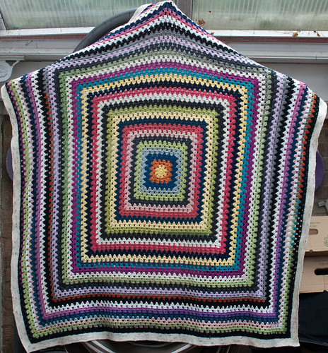 Granny square - light to dark