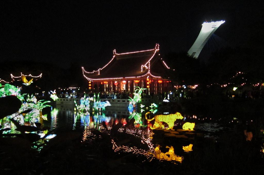 Montreal botanical gardens. Chinese lantern festival.