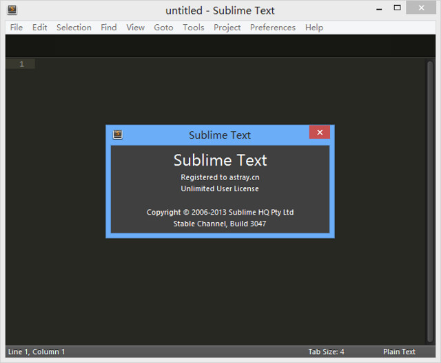 Sublime Text 3 Build 3047