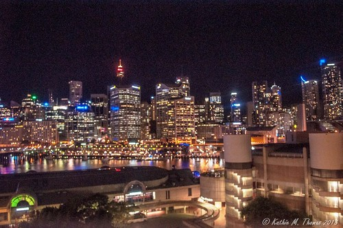 Night view of Darling Harbour