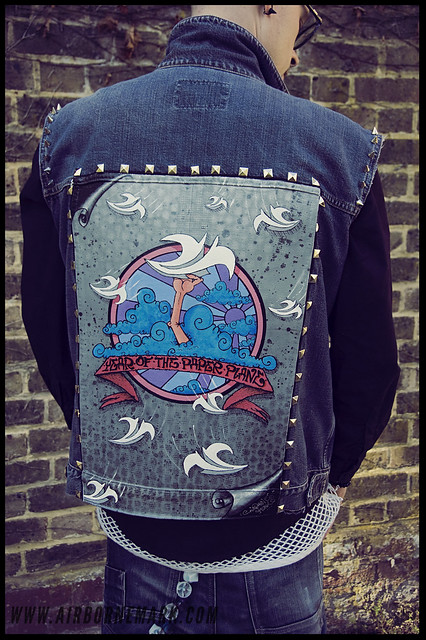 """Year of The Paper Plane"" original denim jacket"