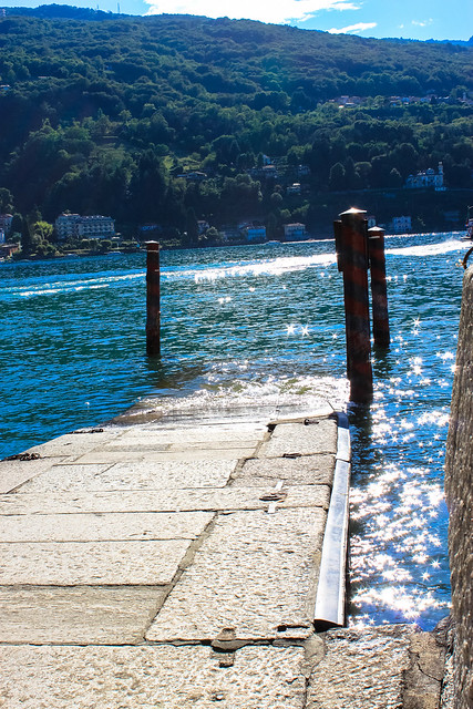 Sparkling jetty on Isola Bella