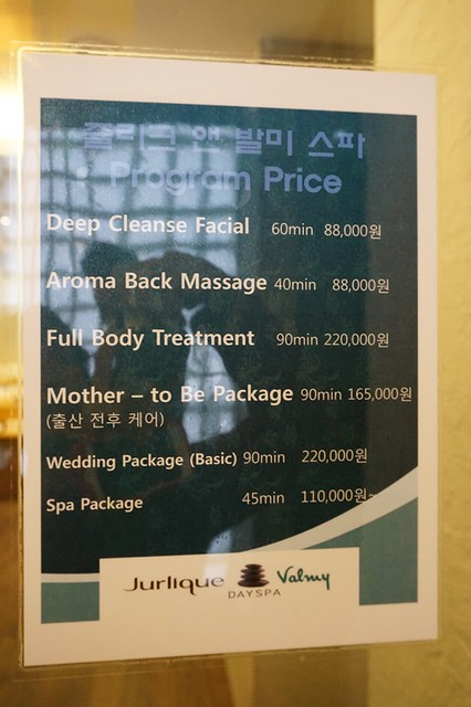 Jurlique Spa and facial - Seoul