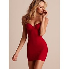 clothing, undergarment, cocktail dress, maroon, dress,