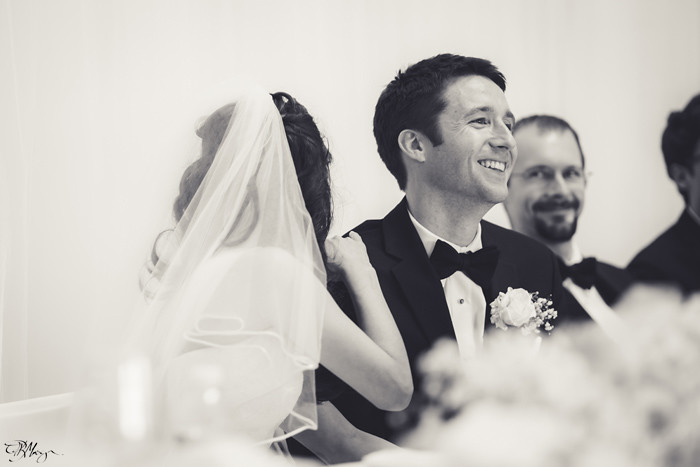 Bride-Groom-Black-and-White-Laughing
