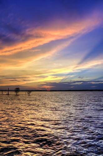 blue sunset lake unitedstates southcarolina columbia hour murray afterglow