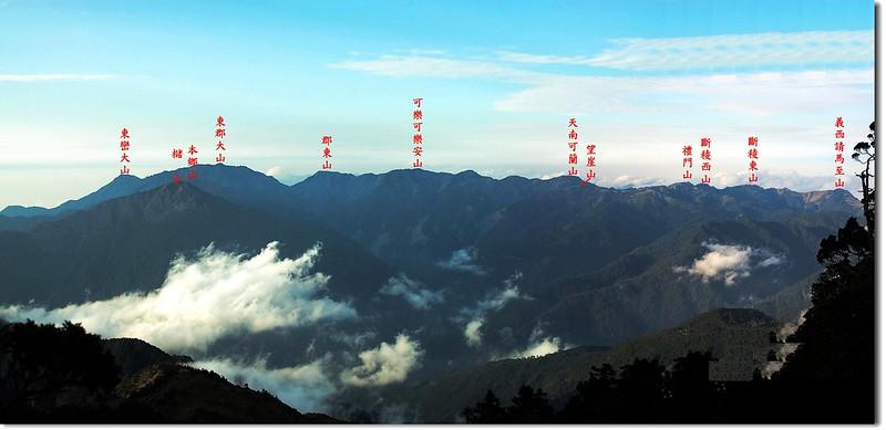 南三段群峰(From 馬博山屋) 2