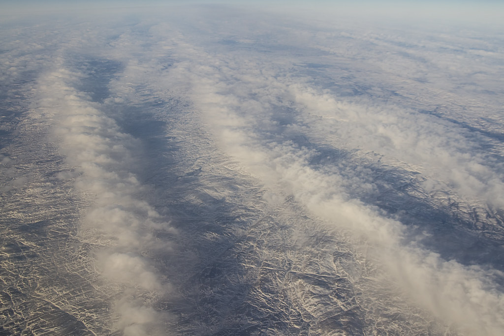 Mountains and Clouds Over Greenland
