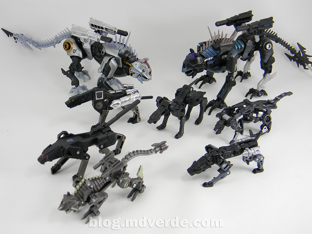 Transformers Jaguar (Ravage) Masterpiece - modo robot vs otros Ravages