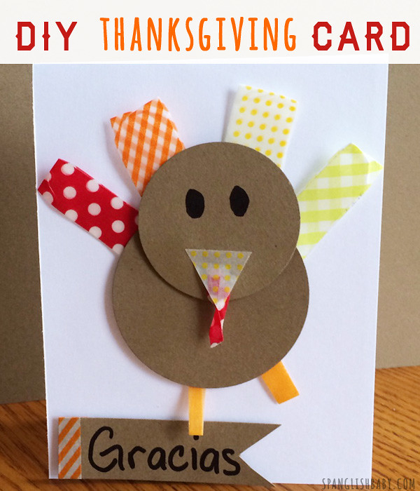 DIY THANKSGIVING CARD CRAFT