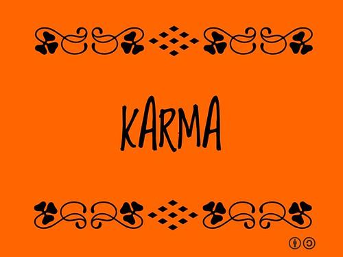 Buzzword Bingo: Karma
