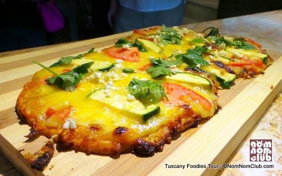 Feta Cilantro Tomato Cocas - Spanish style pizza