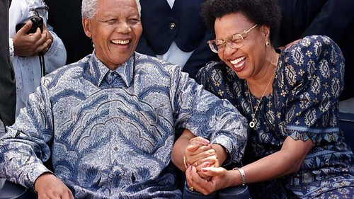 The-then South African President Nelson Mandela with his new wife Graca Machel in 1998. Mandela joined the ancestors on December 5, 2013. by Pan-African News Wire File Photos