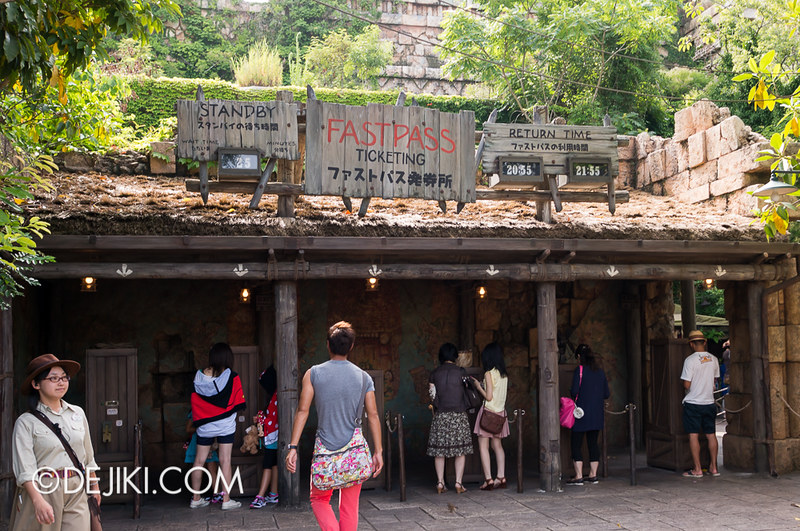 Tokyo DisneySea - Indiana Jones Adventure - Fastpass Ticketing