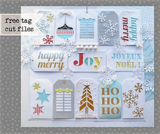 Free Christmas gift tag cutting files