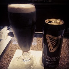 I know Clint is laughing hysterically at this fancy glass for my Guinness, but I had a work detour this evening. Just not getting lunch.  SLAINTE' CLINT! #WeMissClint
