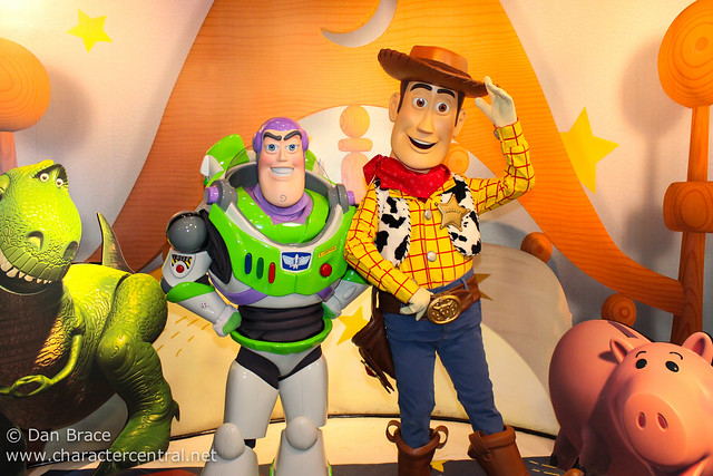 Meeting Buzz and Woody