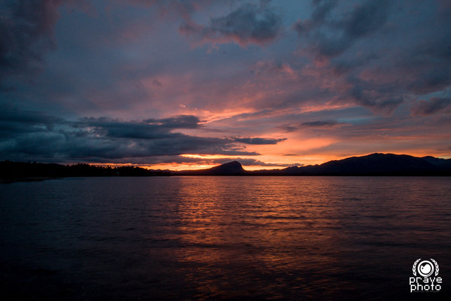 Tramonto sul lago Kultsjon