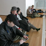 Taking a break at the MoMA