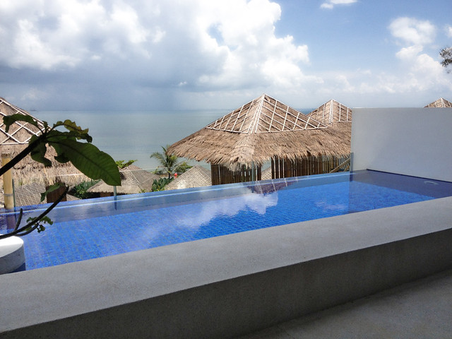 Each villa comes with its own infinity plunge pool