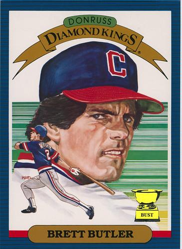 Baseball Card Bust Brett Butler 1986 Donruss Diamond Kings