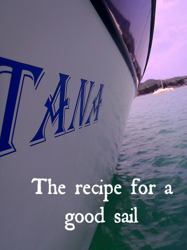 Recipe for a good sail