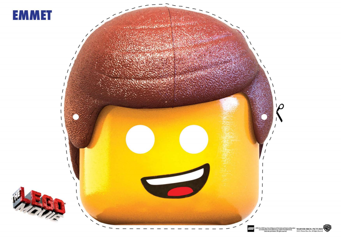 image about Lego Faces Printable identified as The LEGO Online video Persona Mask Slice Outs