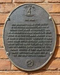 Photo of John Brown bronze plaque