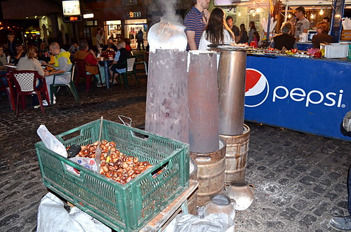 Roasting Chestnuts, November, Puerto de la Cruz