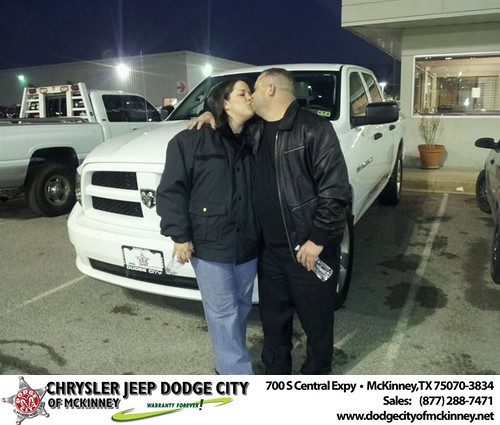 Thank you to Felicia Gonzales on your new 2012 #Ram #1500 from Brent Villarreal and everyone at Dodge City of McKinney! by Dodge City McKinney Texas
