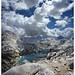 Rae Lakes from Fin Dome - 2013 JMT Post Hike by Bruce Lemons