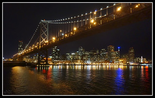SF Bay Bridge Night View