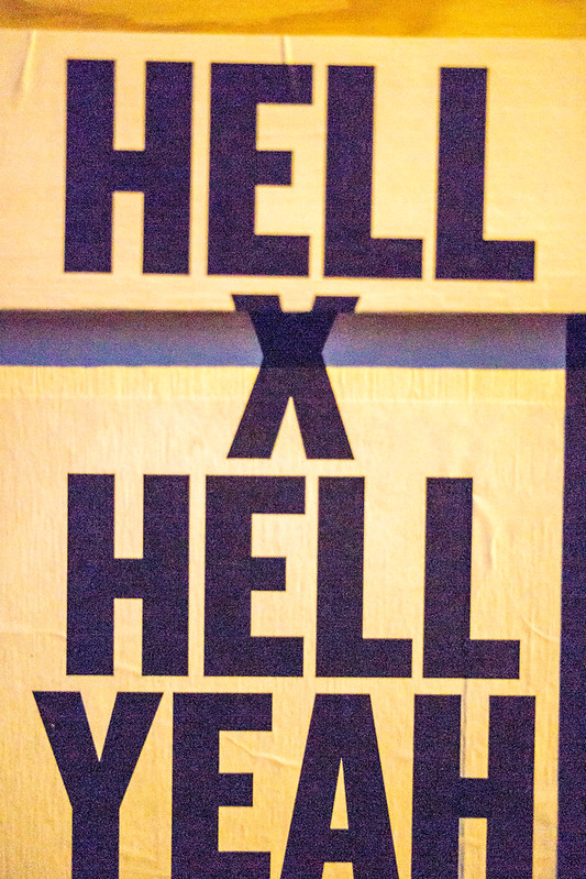 Applauze Party Sign Hell X Hell Yeah SXSW Poster