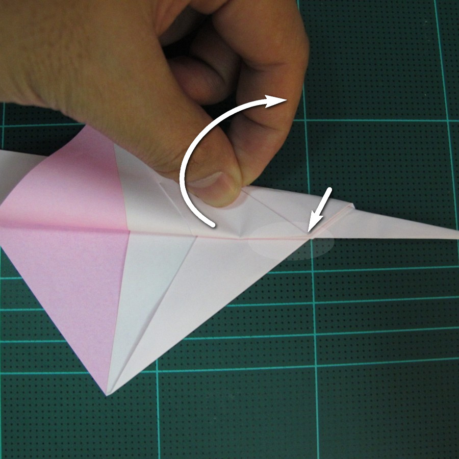 วิธีพับกระดาษเป็นรูปเครื่องบินแบบบินไกล (SST Origami Airplane) 013
