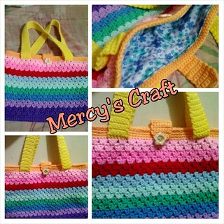 Colorful Crochet Handbag