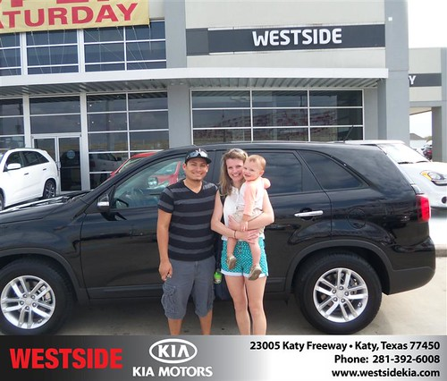 #HappyAnniversary to Joshua Gamez on your 2014 #Kia #Sorento from Jerry Moore  at Westside Kia! by Westside KIA