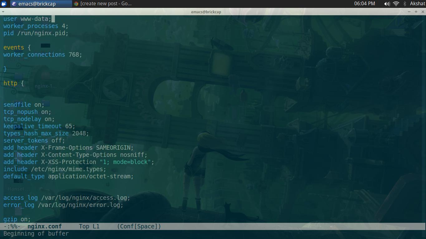 Minimal nginx configuration for front end development