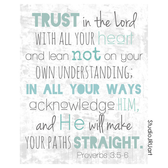 trust in the Lord blue-greens-StudioJRUart