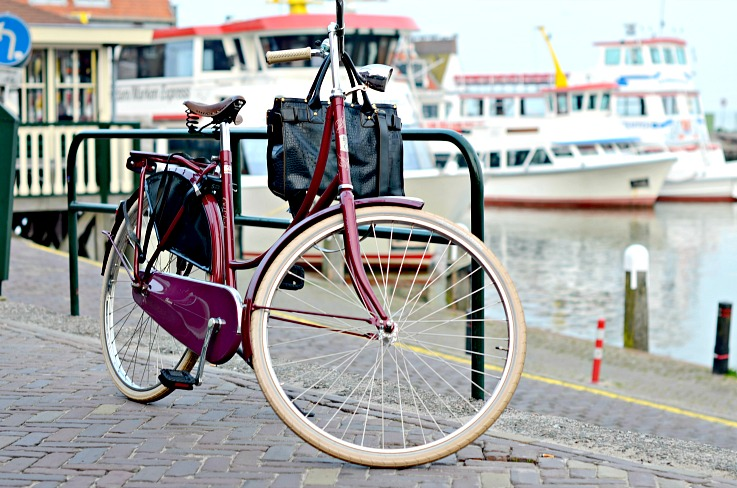 DSC_9190 Burgundy bike in Volendam