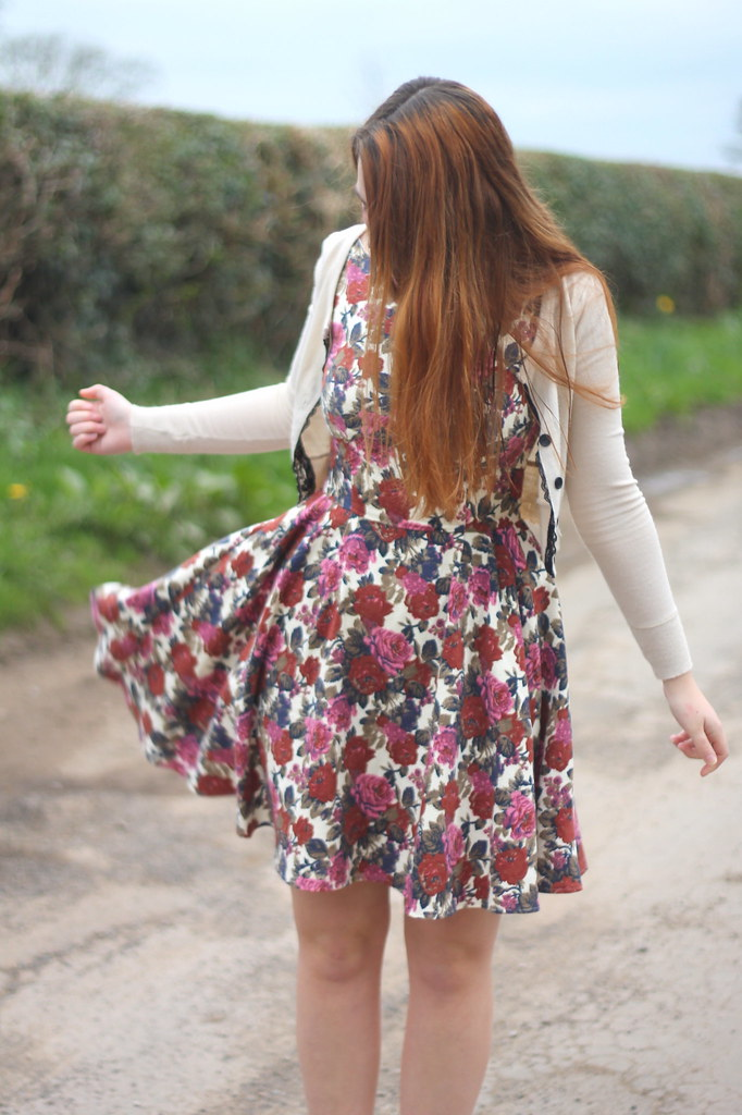 Outfit with floral dress