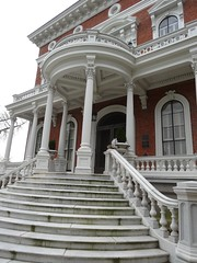 Macon. Marble steps of Hay House. Built 1855-59.