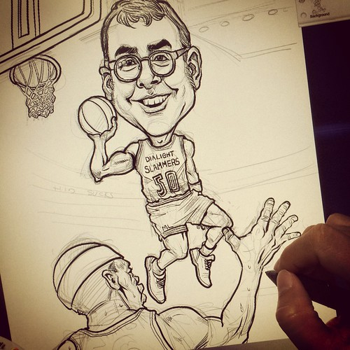 digital basketball player caricature for Dialight ILS