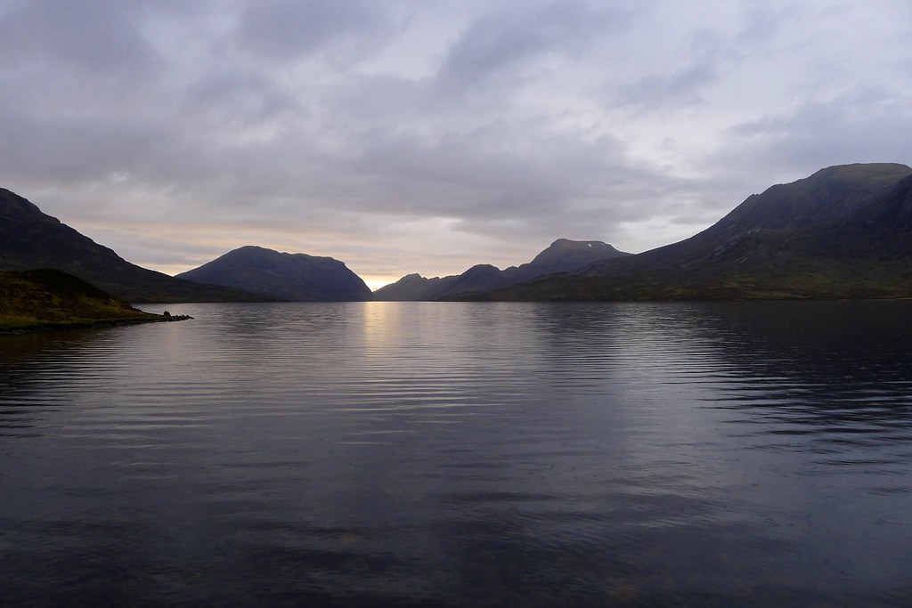 Fisherfield hills from Lochan Fada