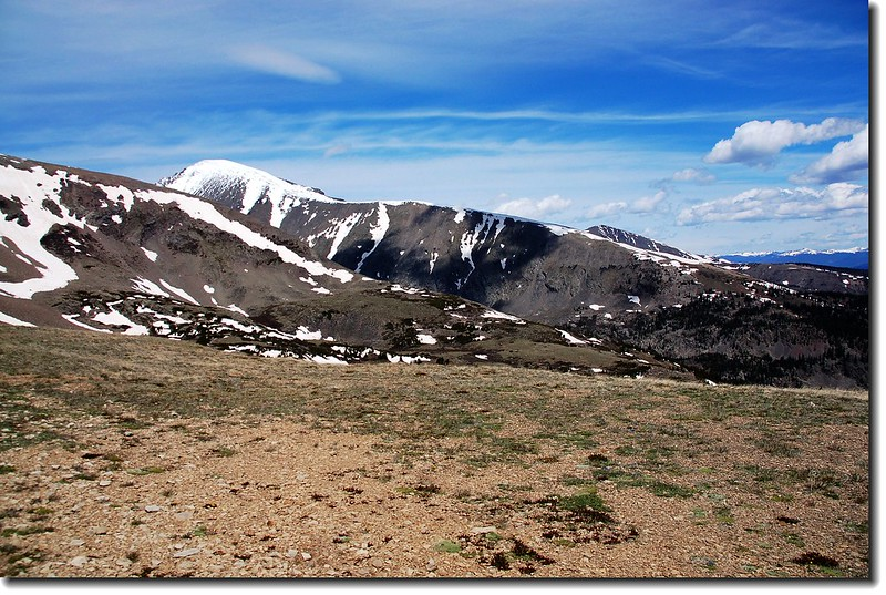 View to Quandery Peak from the top of the knoll on trail 208