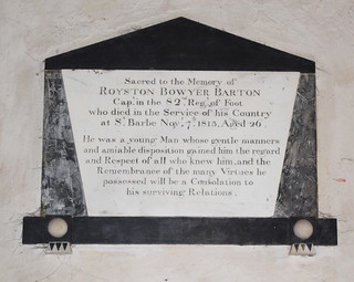 Died in the service of his country at St Barbe