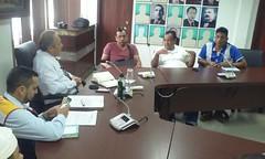 Reunión con delegaciones de comunidades campesinas