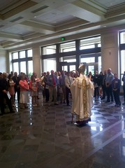 +Paprocki addressing adult confirmandi before today\'s celebration of Confirmation.